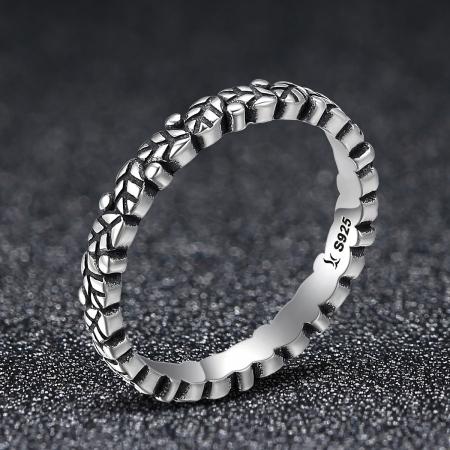 Inel argint 925 cu frunze si aspect vintage - Be Authentic IST00331