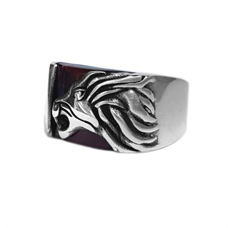 Inel argint 925 cu leu si ochi de tigru2