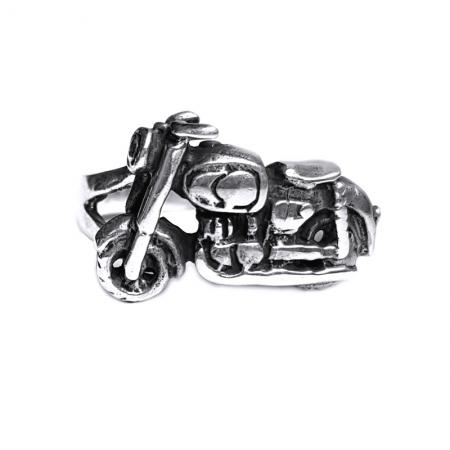Inel argint 925 cu motocicleta, Freedom Rider