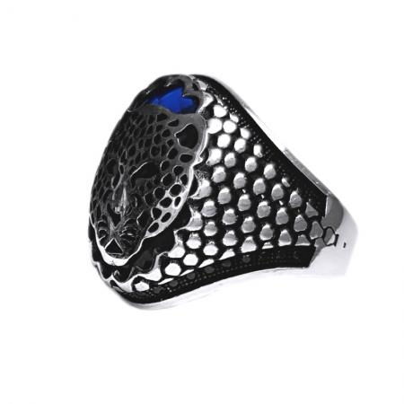 Inel argint 925 cu jaguar si zirconiu1