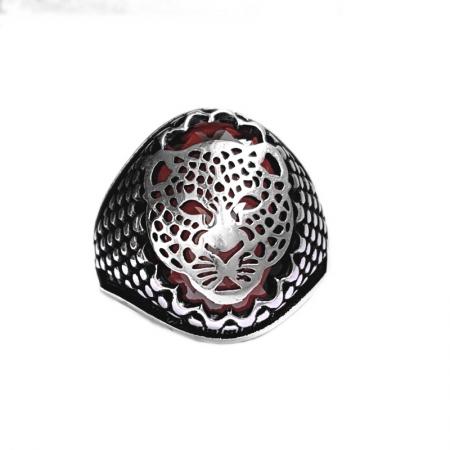 Inel argint 925 cu jaguar si zirconiu0