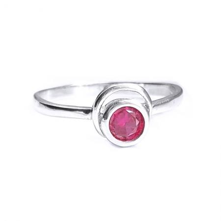 Inel argint 925 cu piatra roz
