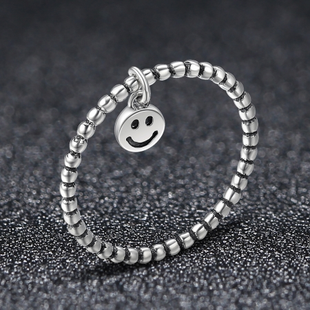 Inel argint 925 cu talisman fata zambitoare Smiley Face - Be Authentic IST00341