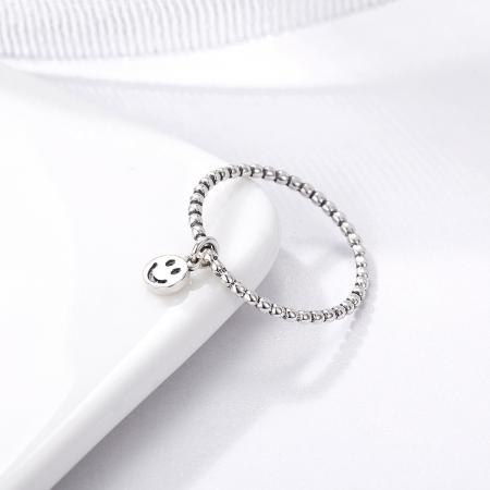 Inel argint 925 cu talisman fata zambitoare Smiley Face - Be Authentic IST00343
