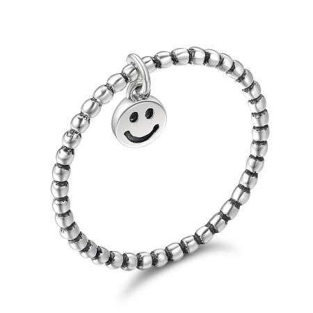 Inel argint 925 cu talisman fata zambitoare Smiley Face - Be Authentic IST0034