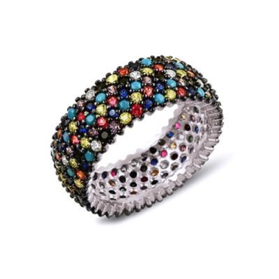 Inel argint 925 cu zirconii multicolore