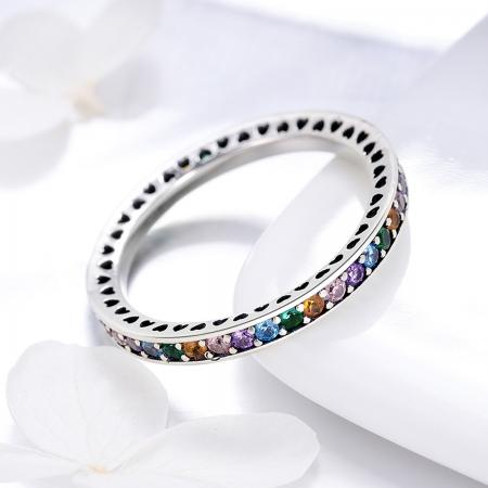 Inel argint 925 cu zirconii multicolore de jur imprejur - Be Elegant IST0057 [1]