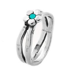 Inel argint 925 Israel floare cu turcoaz