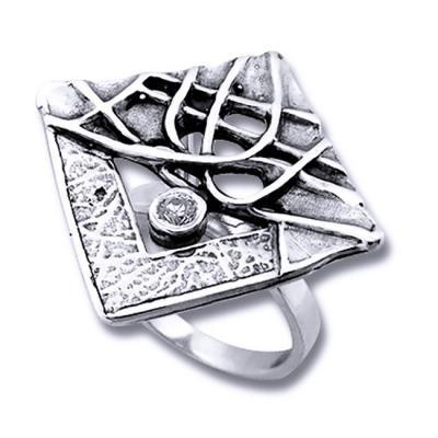 Inel argint 925 lucrat manual cu zirconiu