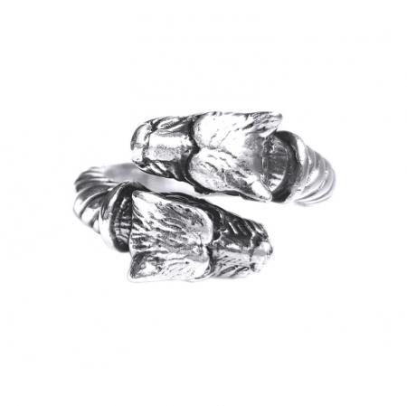 Inel argint 925 reglabil, cu lei