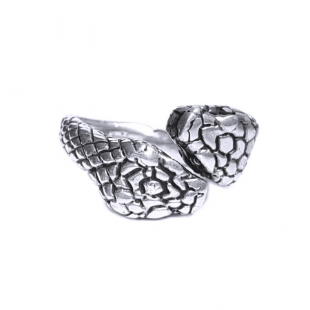 Inel argint 925 reglabil, cu serpi1