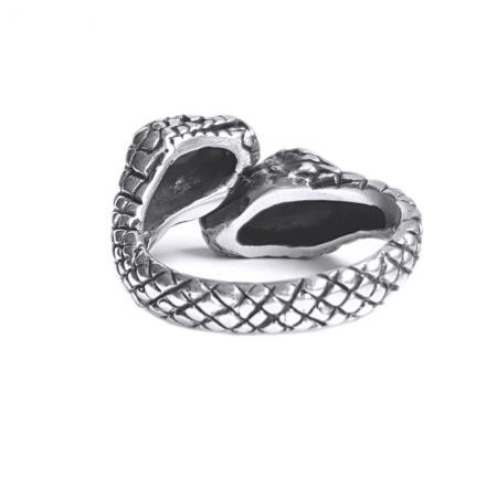 Inel argint 925 reglabil, cu serpi2