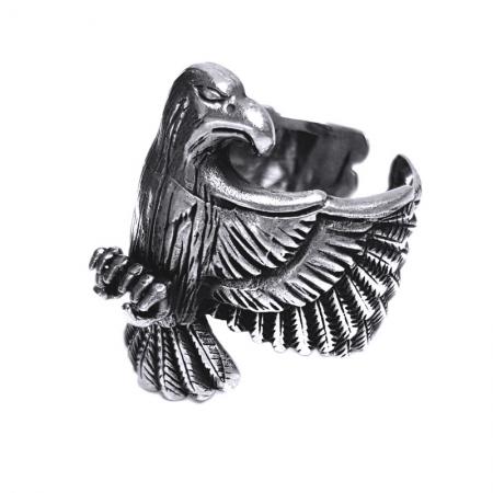 Inel argint 925 reglabil, cu vultur
