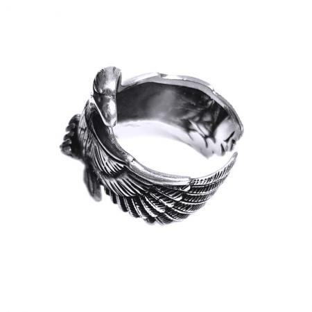 Inel argint 925 reglabil, cu vultur2