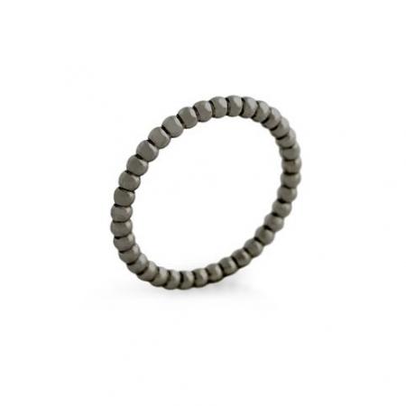 Inel negru argint 925 cu striatii ISX0500
