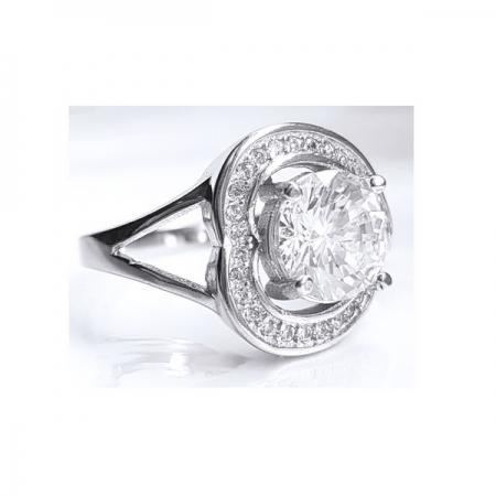 Inel argint 925 rodiat cu zirconii model inimioara1