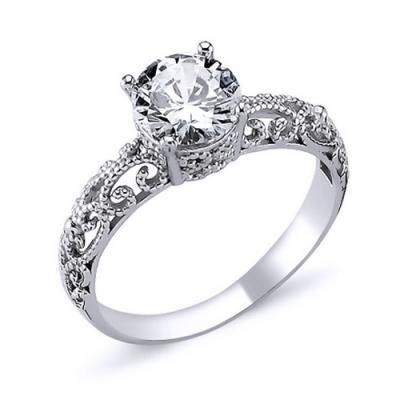 Inel argint 925 rodiat cu zirconiu