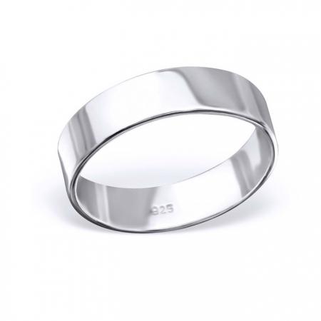 Inel argint 925 rodiat lat model verigheta toate marimile