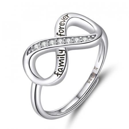 Inel argint ajustabil Dragoste Infinita