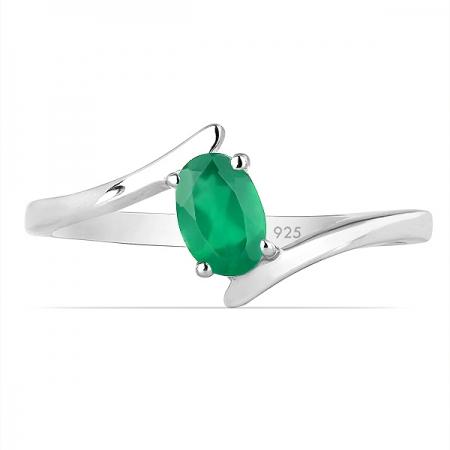 Inel argint Aurora, 925, cu agat verde - IVA0039 [1]