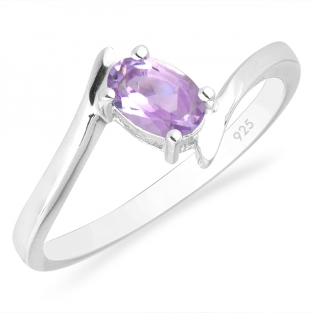 Inel argint Aurora, 925, cu ametist roz - IVA0035