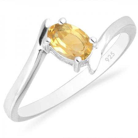 Inel argint Aurora, 925, cu citrina - IVA0034