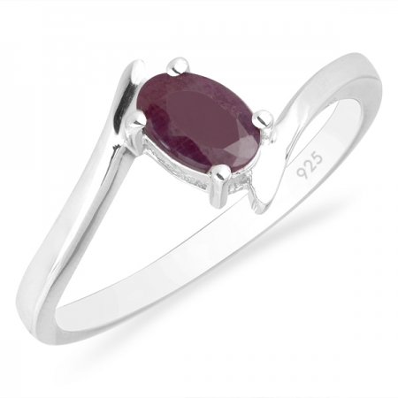 Inel argint Aurora, 925, cu rubin - IVA0036