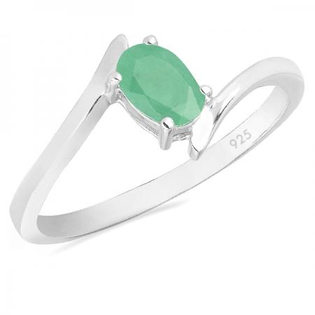 Inel argint Aurora, 925, cu smarald - IVA0037