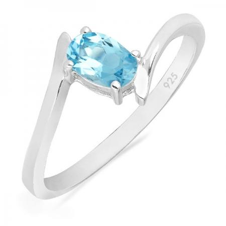 Inel argint Aurora, 925, cu topaz albastru elvetian - IVA0040