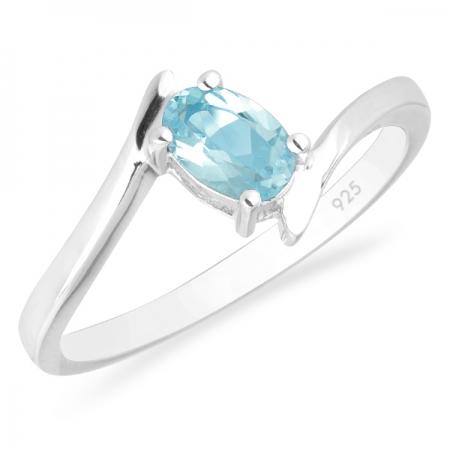 Inel argint Aurora, 925, cu topaz Blue Sky - IVA0038