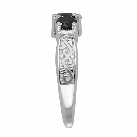 Inel argint cu 3 pietre de Onix - IVA0110 [4]
