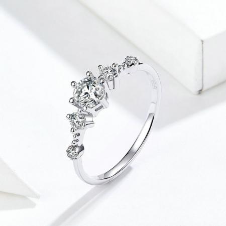 Inel argint cu 5 zirconii [4]