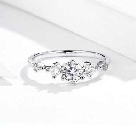 Inel argint cu 5 zirconii [6]