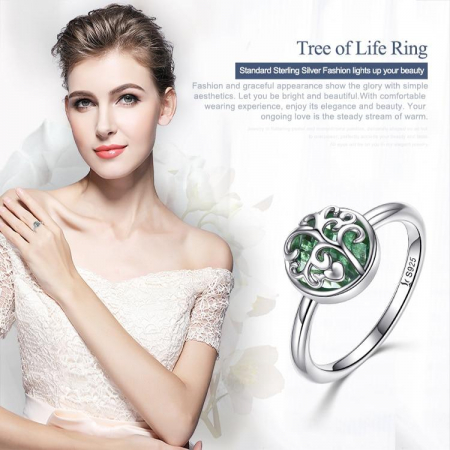 Inel argint cu copacul vietii1