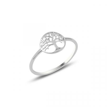 Inel argint cu copacul vietii placat cu rodiu - ITU0236