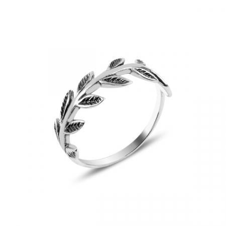 Inel argint cu frunze