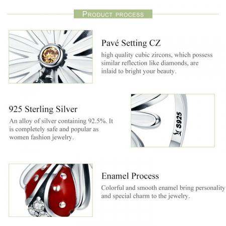 Inel argint cu gargarita si floare6