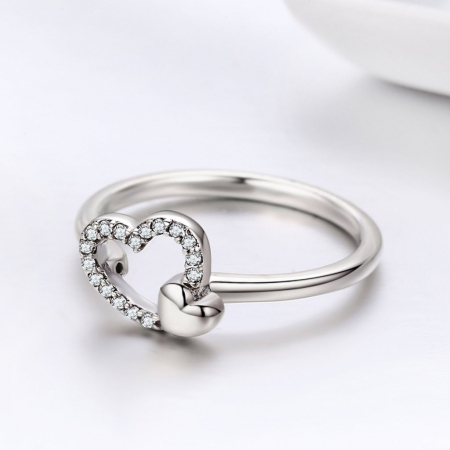 Inel argint cu inimioare4