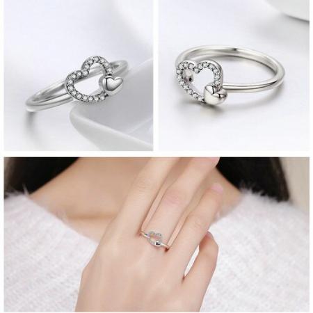 Inel argint cu inimioare1
