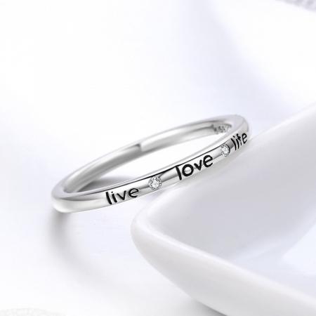 Inel argint cu mesajul LIVE LOVE LIFE3
