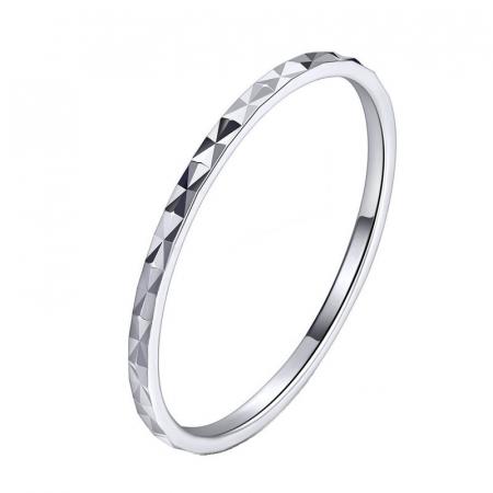 Inel argint cu model romboid
