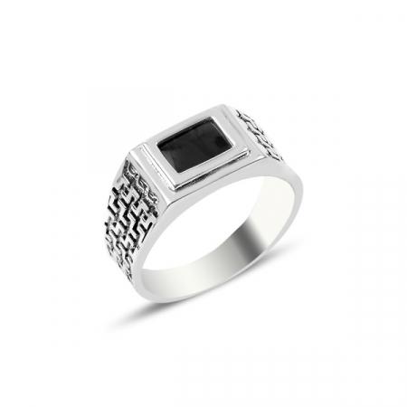 Inel argint cu Onix