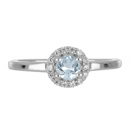 Inel argint cu topaz si cristale de zirconiu alb - IVA01212