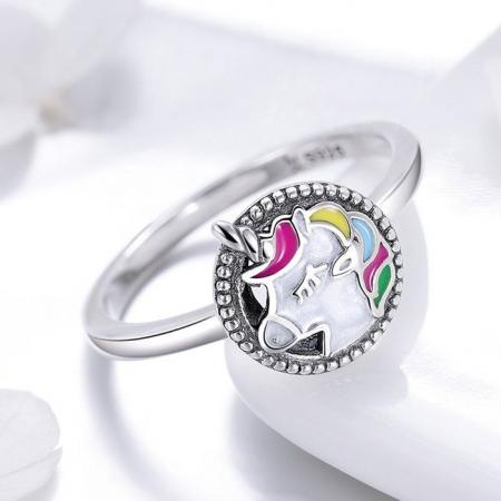 Inel argint cu Unicorn1