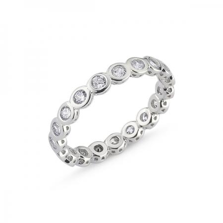 Inel argint cu zirconii - Eternity