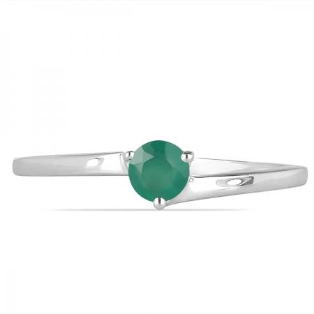 Inel argint Elinor, 925, cu agat verde - IVA00261