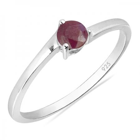 Inel argint Elinor, 925, cu rubin - IVA0023