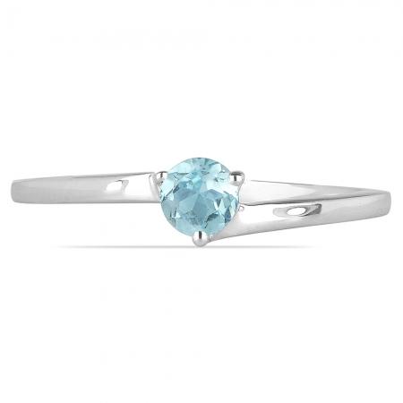 Inel argint Elinor, 925, cu topaz albastru - IVA0025