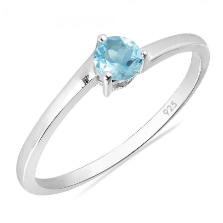 Inel argint Elinor, 925, cu topaz albastru - IVA00251