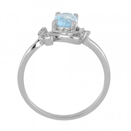 Inel argint floare cu topaz si cristale de zirconiu alb - IVA0093 [3]